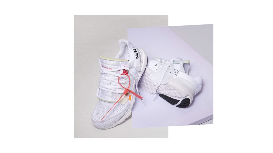 The Ten, 10 iconic Nike shoes reimagined by Virgil Abloh.
